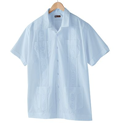 Centro Cuffed Guayabera Casual Button-Down Shirt