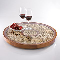 Wine Enthusiast Wine Cork Lazy Susan Kit