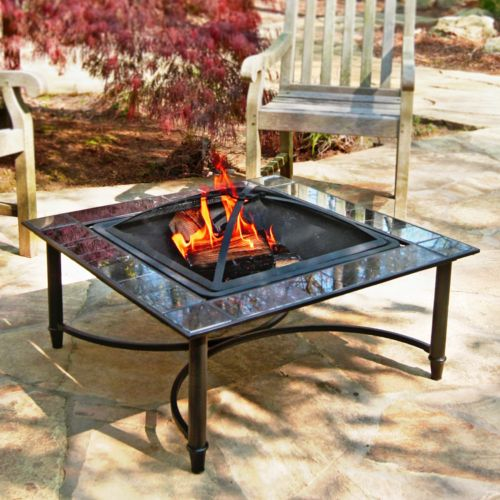Marble-Trim Fire Pit - Outdoor