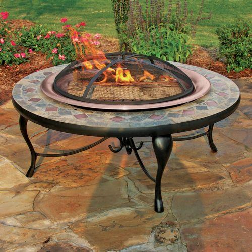 Mosaic Tile Fire Pit - Outdoor