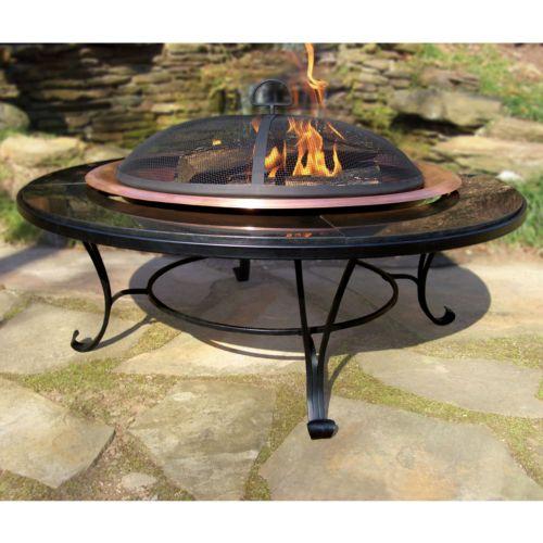 Granite-Trim Fire Pit - Outdoor