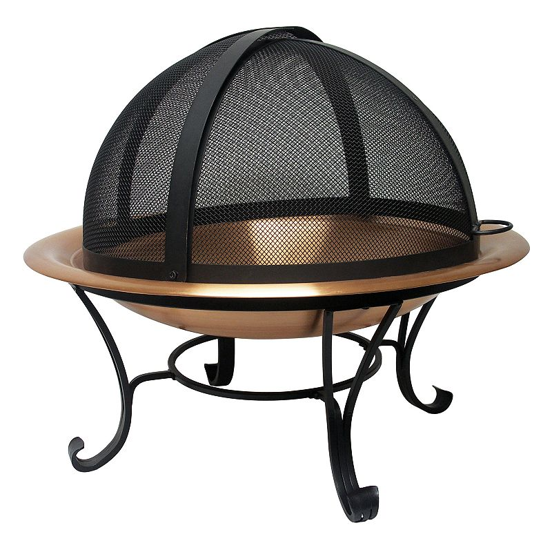 24-in. Fire Pit Spark Screen (Black)