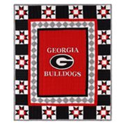Georgia Bulldogs Patchwork Quilt