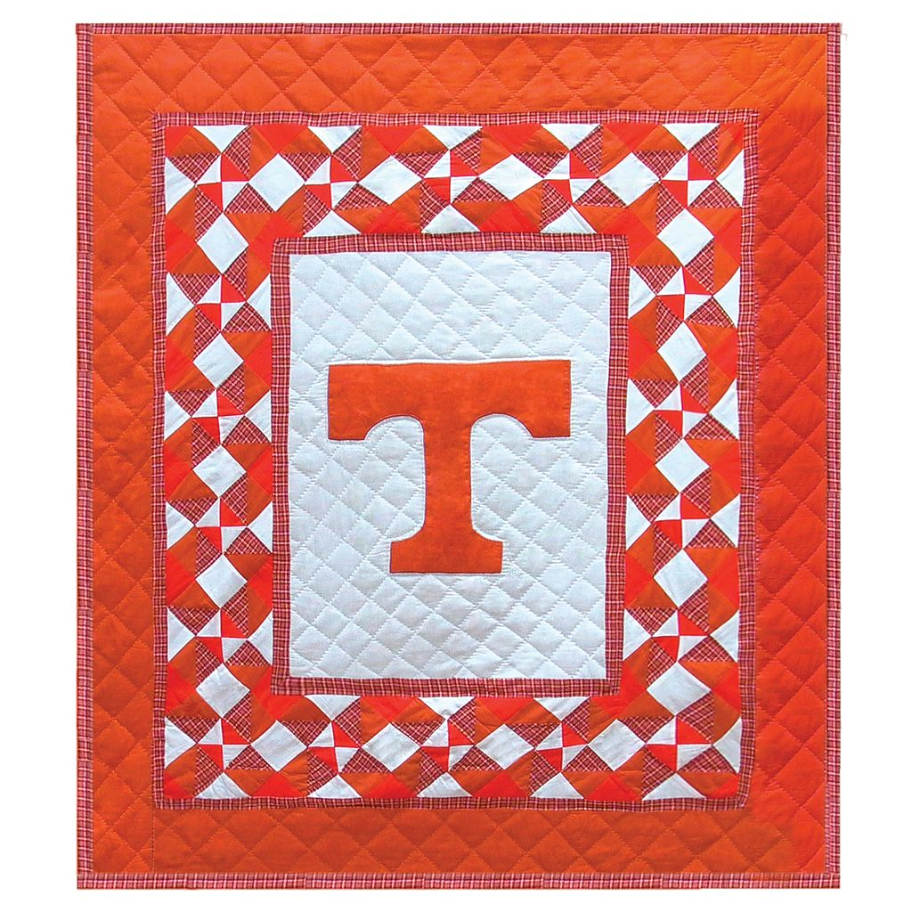 Tennessee Volunteers Patchwork Quilted Throw