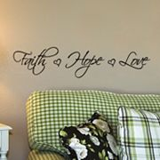 Faith, Hope, Love Wall Sticker
