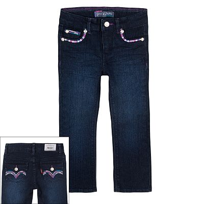 Levi's Lurex Slim Straight-Leg Jeans- Girls' 4-6x