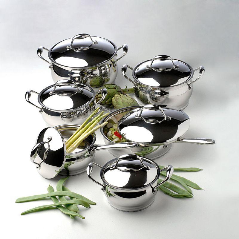 Stainless steel ergonomic cookware kohl 39 s for Zeno kitchen set