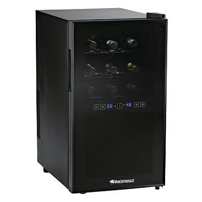 Wine Enthusiast Silent 18-Bottle Touchscreen Wine Refrigerator