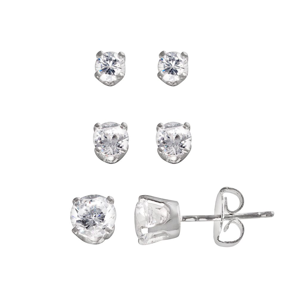 Sterling Silver 1.86-ct. T.W. DiamonLuxe Stud Earring Set