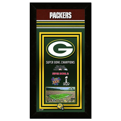 Green Bay Packers Super Bowl® Champions Framed Wall Art