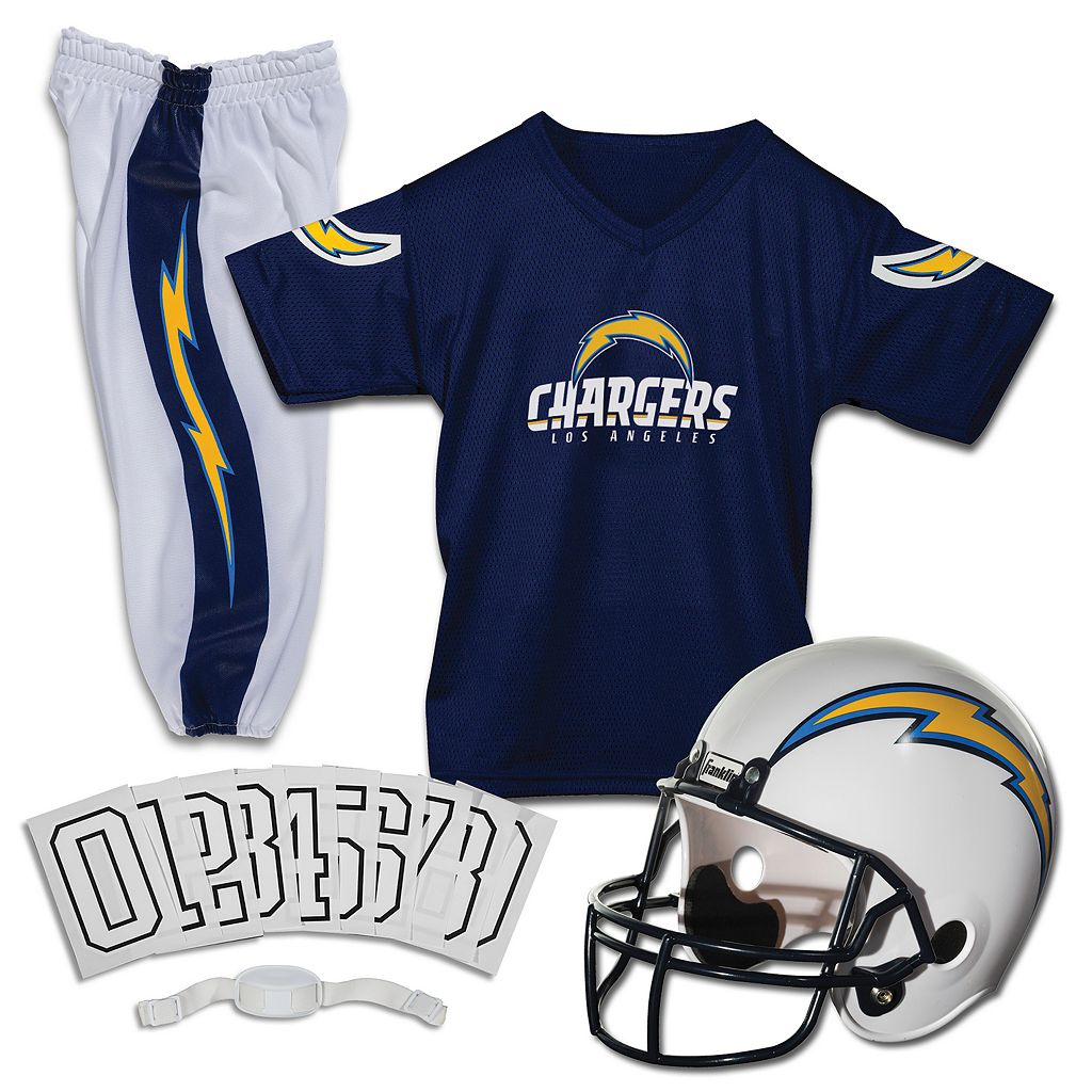 Franklin San Diego Chargers 3-pc. Football Uniform