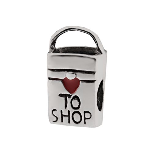 Individuality Beads Sterling Silver Shopping Bag Bead