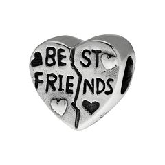 Individuality Beads Sterling Silver 'Best Friends' Heart Bead