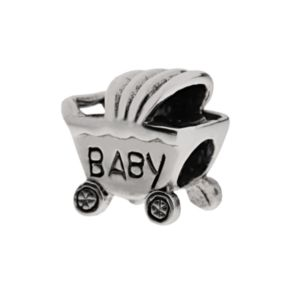 Individuality Beads Sterling Silver Baby Carriage Bead