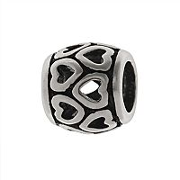 Individuality Beads Sterling Silver Heart Spacer Bead