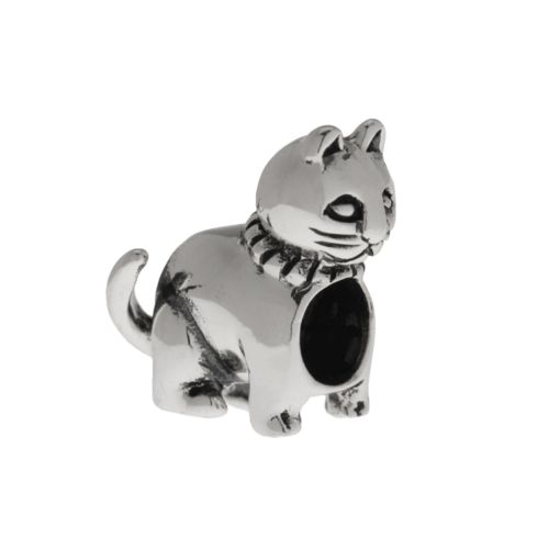 Individuality Beads Sterling Silver Cat Bead