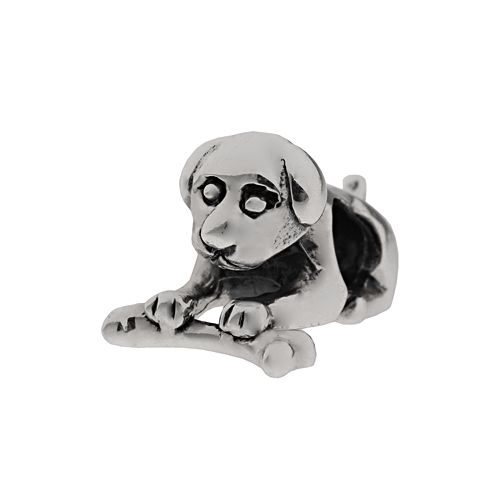Individuality Beads Sterling Silver Dog & Bone Bead