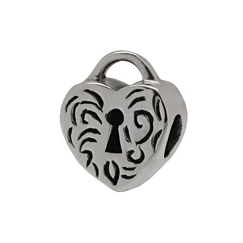 Individuality Beads Sterling Silver Heart Lock Bead