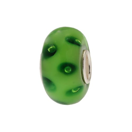 Individuality Beads Sterling Silver Dot Glass Bead