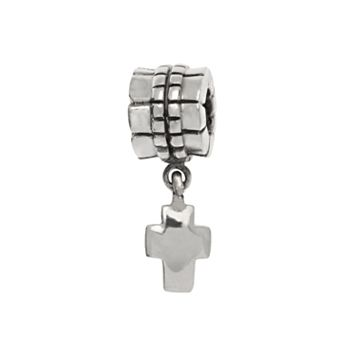 Individuality Beads Sterling Silver Cross Charm Bead