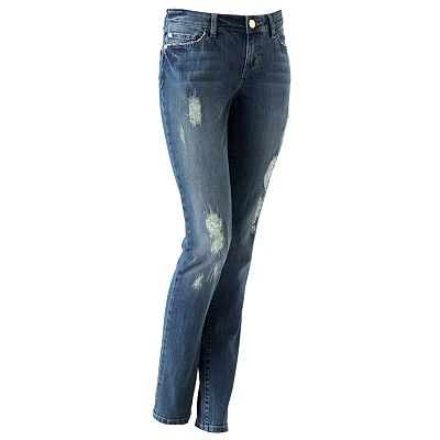 LC Lauren Conrad - Distressed Skinny Jeans