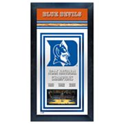 Duke Blue Devils NCAA National Champions Framed Wall Art
