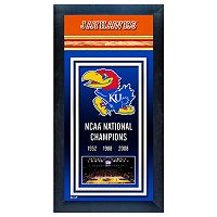 Kansas Jayhawks NCAA National Champions Framed Wall Art