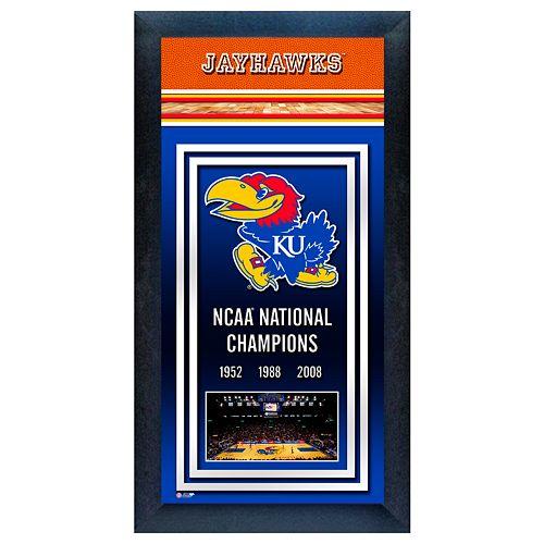 Kansas Jayhawks NCAA National Champions Framed Wall Art