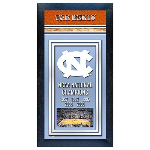 North Carolina Tar Heels NCAA National Champions Framed Wall Art
