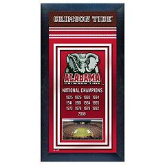 Alabama Crimson Tide National Champions Framed Wall Art