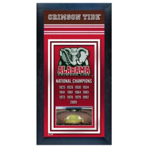 Alabama Crimson Tide National Champions Framed Wall Art