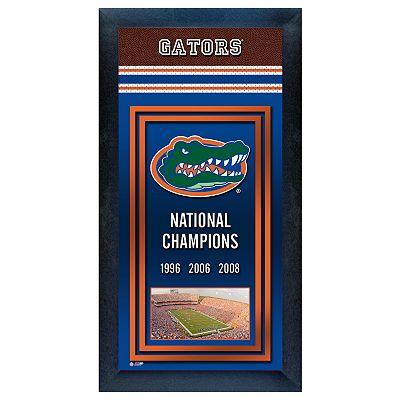 Florida gators national champions framed wall art - Florida gators bathroom decor ...