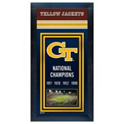 Georgia Tech Yellow Jackets National Champions Framed Wall Art