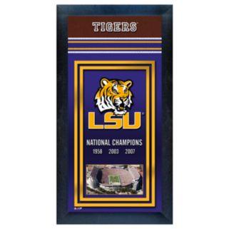 LSU Tigers National Champions Framed Wall Art