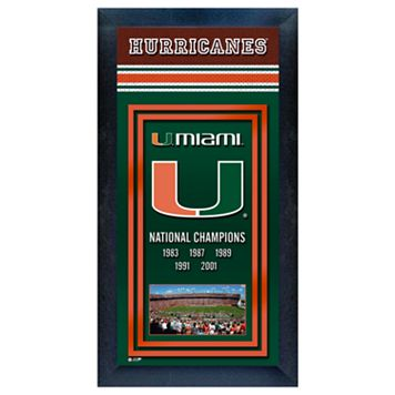 Miami Hurricanes National Champions Framed Wall Art
