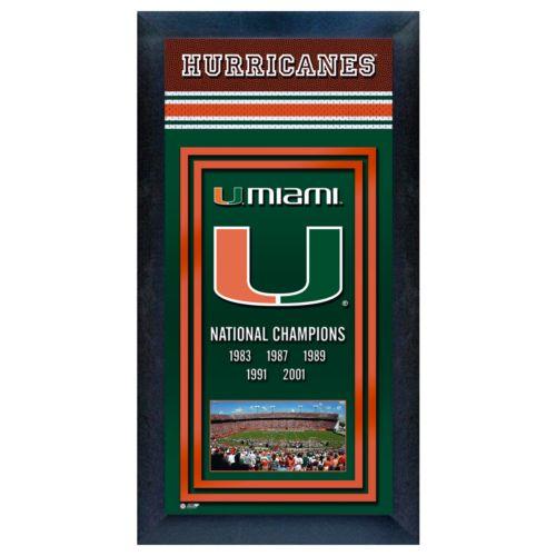 Miami Hurricanes National Champions Framed Wall Art