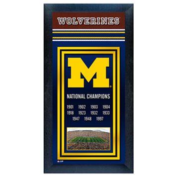 Michigan Wolverines National Champions Framed Wall Art