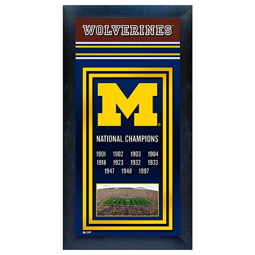 Michigan Wolverines National Champions Framed Wall Art