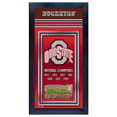 Ohio State Buckeyes National Champions Framed Wall Art