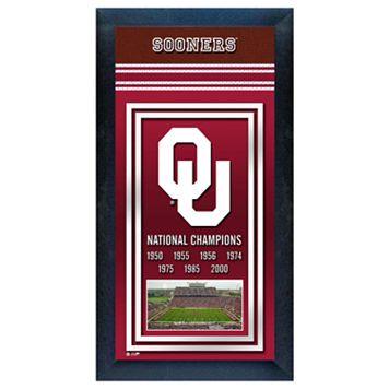 Oklahoma Sooners National Champions Framed Wall Art