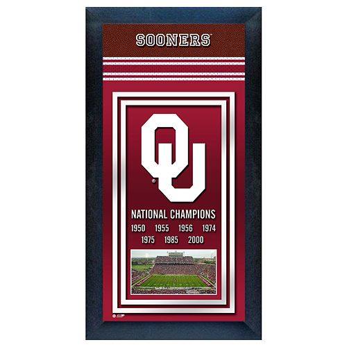 Oklahoma Sooners National Champions Framed Wall Art
