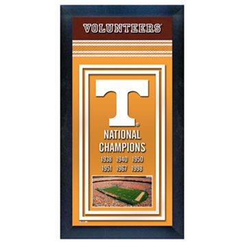 Tennessee Volunteers National Champions Framed Wall Art