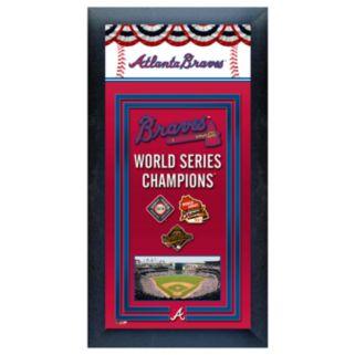 Atlanta Braves World Series Champions Framed Wall Art