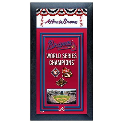 Atlanta Braves World Series Champions Framed Wall Art