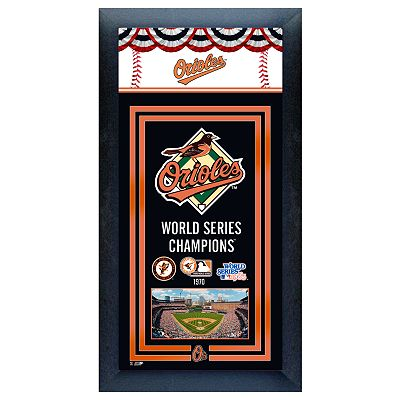 Baltimore Orioles World Series Champions Framed Wall Art