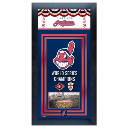 Cleveland Indians World Series Champions Framed Wall Art