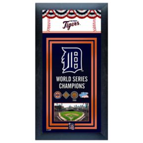 Detroit Tigers World Series Champions Framed Wall Art