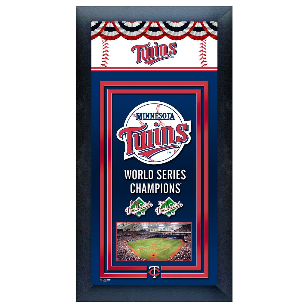 Minnesota Twins World Series Champions® Framed Wall Art