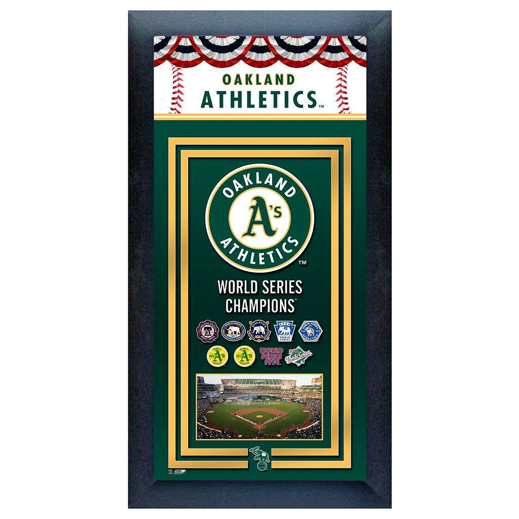 Oakland Athletics World Series Champions® Framed Wall Art