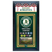 Oakland Athletics World Series Champions Framed Wall Art